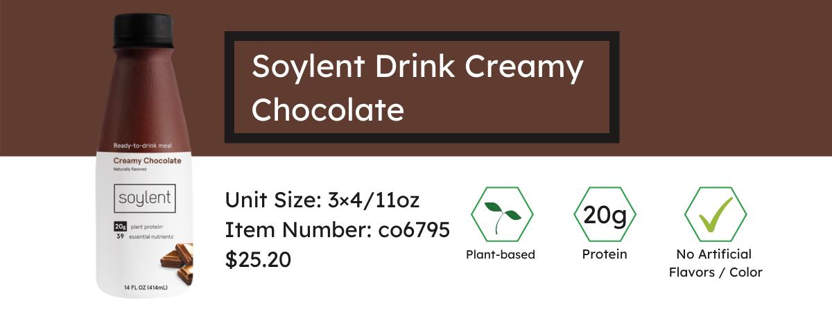 Soylent Drink Creamy Chocolate