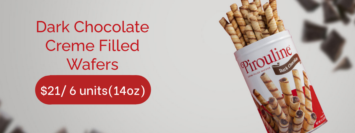 Pirouline Chocolate Creme Filled Wafers